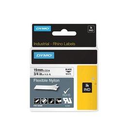 Dymo Dymo RHINO flexibele nylontape 19 mm, zwart op wit