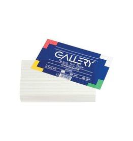 Gallery Gallery witte systeemkaarten,7,5x12,5cm,gelijnd,pak 100st