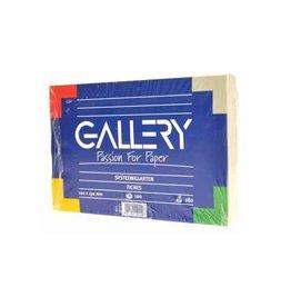 Gallery Gallery witte systeemkaarten, ft 10 x 15 cm, effen, 100st