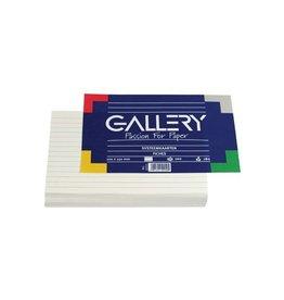 Gallery Gallery witte systeemkaarten, 10 x15cm,gelijnd,pak van 100st
