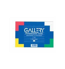 Gallery Gallery gekleurde systeemkaarten,10x15cm,gelijnd,pak 100st