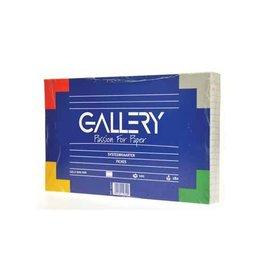 Gallery Gallery witte systeemkaarten,12,5x20cm,gelijnd,pak van 100st