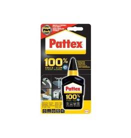 Pattex Pattex 100% lijm, tube van 50 g, op blister