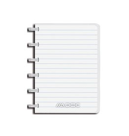 Adoc Adoc notitieboekje Colorlines, A6, gelijnd, assorti [10st]