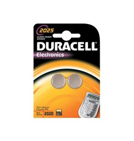 Duracell Duracell knoopcel Electronics CR2025, blister van 2 stuks