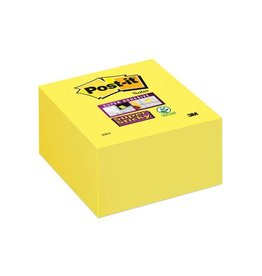 Post-it Post-it Super Sticky notes, 76x76mm, neongeel, blok 350 vel
