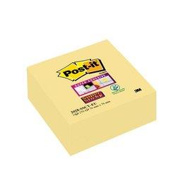 Post-it Post-it Super Sticky notes, 76x76mm, geel, blok 270 vel