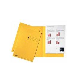 Esselte Esselte dossiermap geel, karton van 180 g/m², pak van 100st