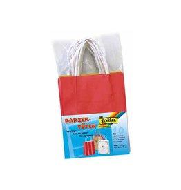 Folia Folia papieren kraft zak, 110-125 g/m², assorti, 10st