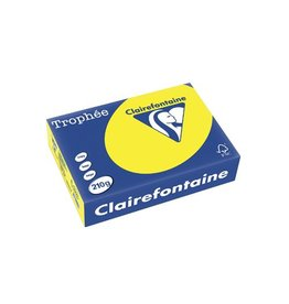 Clairefontaine Papier Clairefontaine Trophée Intens A4, 210 g, 250 vel, zonnegeel