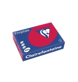 Clairefontaine Papier Clairefontaine Trophée Intens A4, 210 g, 250 vel, kersenrood