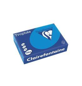 Clairefontaine Papier Clairefontaine Trophée Intens A4 turkoois, 210 g, 250 vel