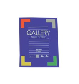 Gallery Gallery schrift, ft 16,5 x 21 cm, geruit 5 mm, 72 bladzijden