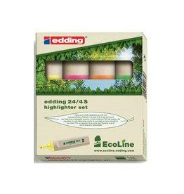 Edding Edding Markeerstift Ecoline e-24 etui van 4st in assorti