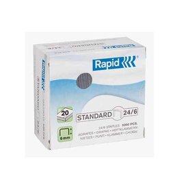 Rapid Rapid Nietjes 24/6, gegalvaniseerd, doos van 5.000 nietjes