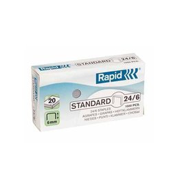 Rapid Rapid Nietjes 24/6, koper, doos van 5.000 nietjes
