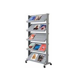Paperflow Paperflow Mobiele folderhouder  Large zilver