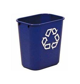 Rubbermaid commercial products Rubbermaid recylagebak, zonder zijbakjes, 26,6 liter, blauw