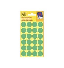 Avery Zweckform Avery Ronde etiketten diameter 18 mm, groen, 96 stuks