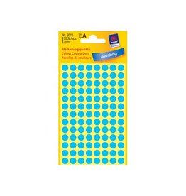 Avery Zweckform Avery Ronde etiketten diameter 8 mm, blauw, 416 stuks