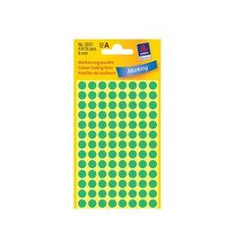 Avery Zweckform Avery Ronde etiketten diameter 8 mm, groen, 416 stuks