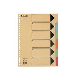 Esselte Esselte tabbladen 6 tabs, karton van 275 g/m²