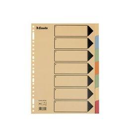 Esselte Esselte tabbladen A4 karton 7 tabs 23 perforatiegaten
