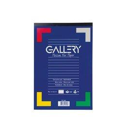 Gallery Gallery schrijfblok, ft A4, gelijnd, blok van 100 vel