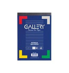 Gallery Gallery schrijfblok, ft A5, gelijnd, blok van 100 vel