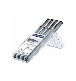 Staedtler Staedtler fineliner Pigment Liner opstelbare box met 4st