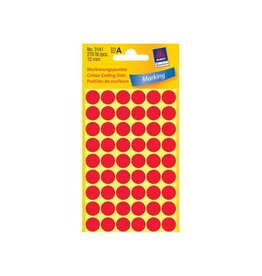 Avery Zweckform Avery Ronde etiketten diameter 12 mm, rood, 270 stuks