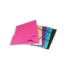 5 Star 5 Star elastomap 3 kleppen, geassorteerde pastelkleuren, 10