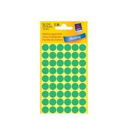 Avery Zweckform Avery Ronde etiketten diameter 12 mm, groen, 270 stuks