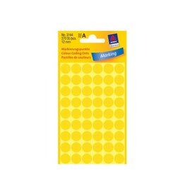 Avery Zweckform Avery Ronde etiketten diameter 12 mm, geel, 270 stuks