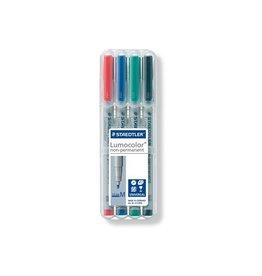 Staedtler Staedtler OHP-marker Lumocolor Non-Permanent  box 4st M 1mm