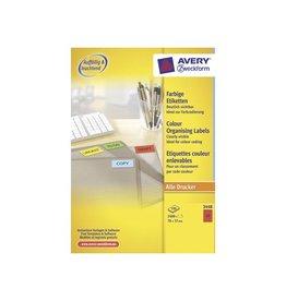 Avery Avery etik. ILC 70x37mm 2400 etik. per doos, 24 per bl, rood