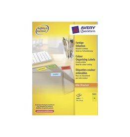 Avery Zweckform Avery Gekleurde universele etiketten 70x37mm 2.400st geel