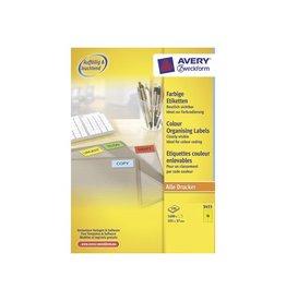 Avery Zweckform Avery Gekleurde universele etiketten 105x37mm 1.600st geel