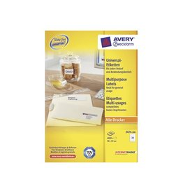 Avery Avery witte etik. QuickPeel 70x37mm 4800st 24 per bl, 200 bl