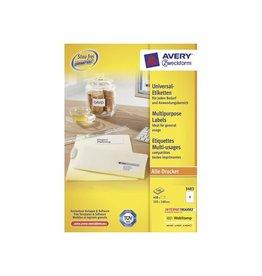 Avery Zweckform Avery witte etik. QuickPeel 105x148mm 400st 4 per bl, 100 bl