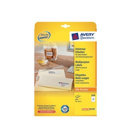 Avery Avery witte etiketten QuickPeel 70x36mm 720st(600+120 extra)