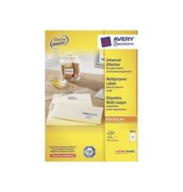 Avery Zweckform Avery witte etik. QuickPeel 70x42,3mm 2100st 21 per bl 100bl