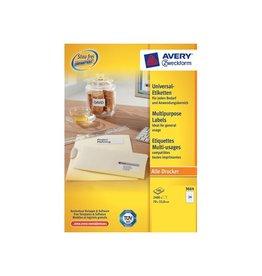 Avery Avery Zweckform 3664, wit, 100 vellen, 24 pervel, 70x33,8mm