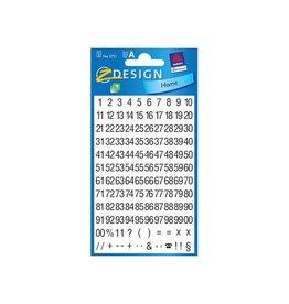Avery Zweckform Avery Etiketten cijfers en letters 1-100 2 blad zwart op wit