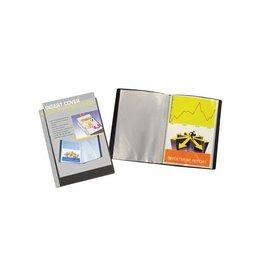 5 Star 5 Star personaliseerbaar showalbum, ft A4, 20 tassen, zwart