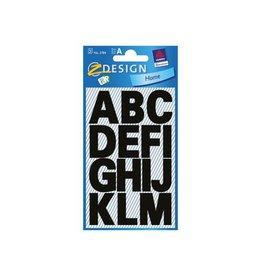 Avery Zweckform Avery Etiketten letters A-Z groot, 2 blad, zwart