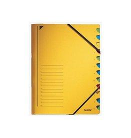 Leitz Leitz bureau sorteermap, karton, ft A4, 12 tabs, geel