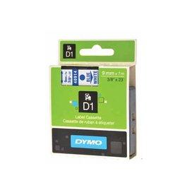 Dymo Dymo D1 tape 9 mm, blauw op wit