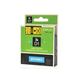 Dymo Dymo D1 tape 9 mm, zwart op geel