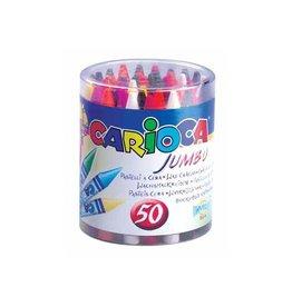 Carioca Carioca waskrijt Wax Maxi, plastic pot met 50st in assorti